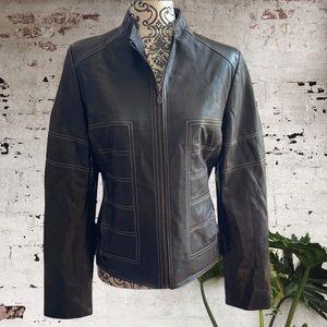 SANTOS Montreal Fine Leather Jacket, M
